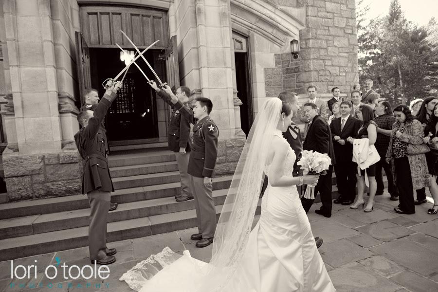 A World War II era military wedding