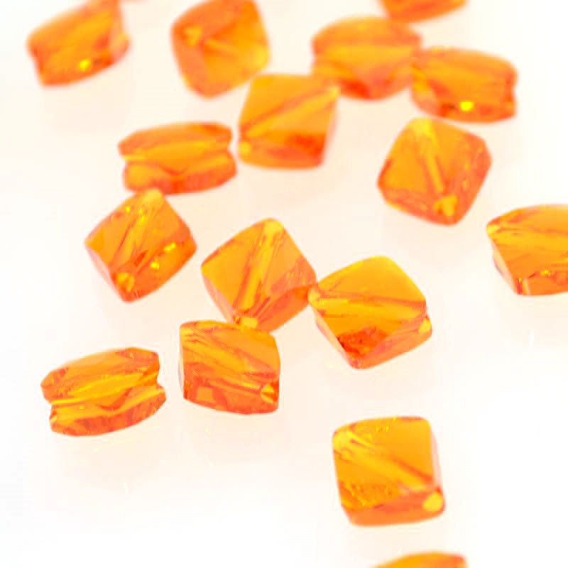 27750540050259 Swarovski Bead - 8 mm Mini-Rhombus (5054) - Tangerine (1)