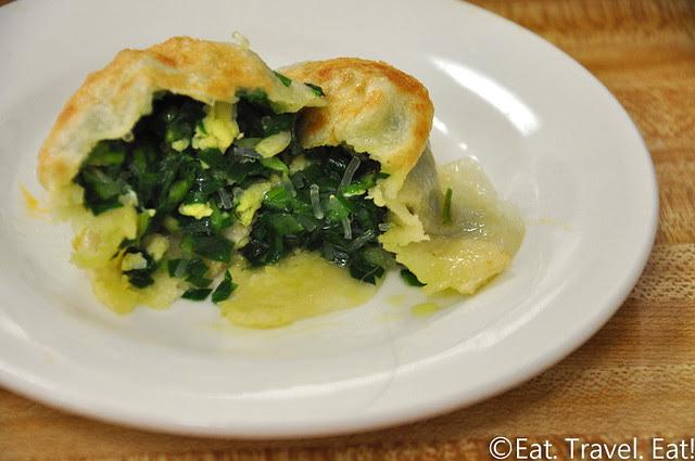 Flavor Garden- Alhambra, CA: Chinese Leek Pancake Interior (Chive Pocket)