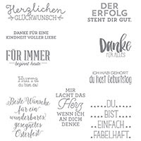Wunderbare Worte Clear-Mount Stamp Set (German)