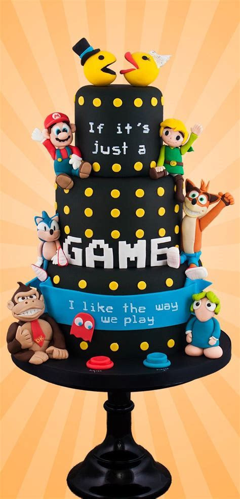 Video Game Love Cake   Cakes Beautiful Cakes for the