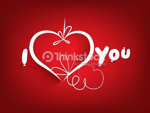 Dia Dos Namorados De Fundo E I Love Youfrase Em Inglês Arte Vetorial