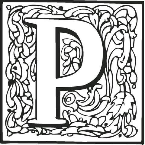 Dibujo De La Letra P Para Colorear Dibujos Para Colorear Imprimir