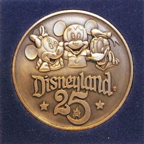 Disneyland 25th anniversary Commemorative pewter coin from