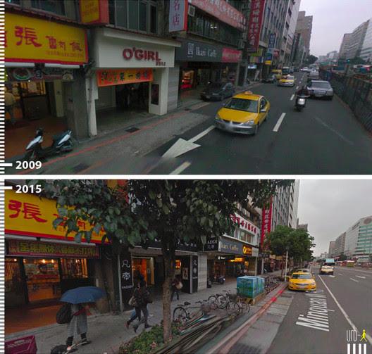 Minquen W Rd, Taipei, Taiwan. Cortesia de Urb-I