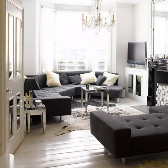 Modern black Living rooms | Home Interior Design, Kitchen and ...