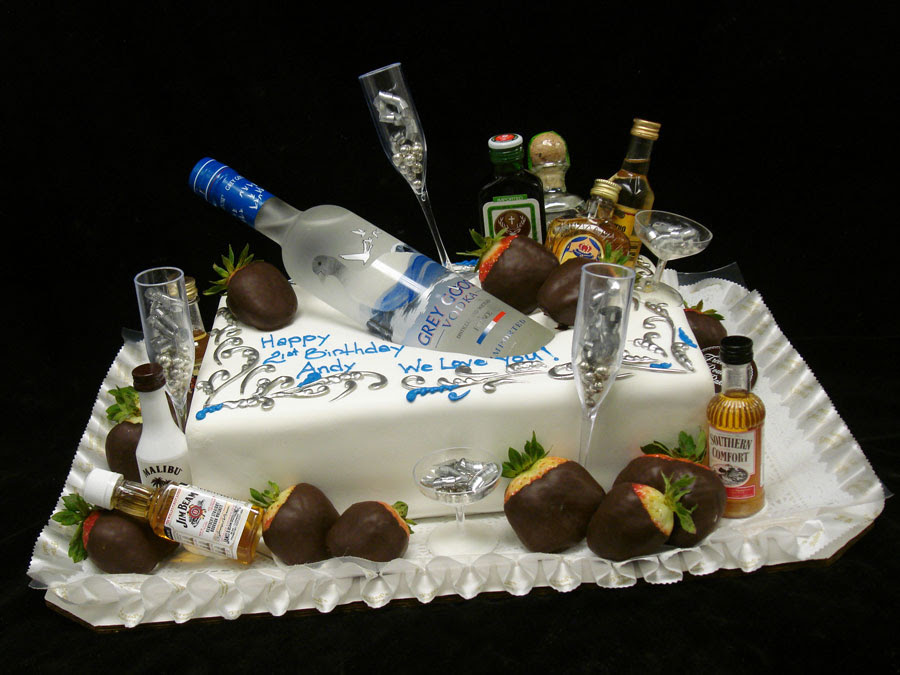 Vodka Bottle Birthday Cake Idea Nice Wishes
