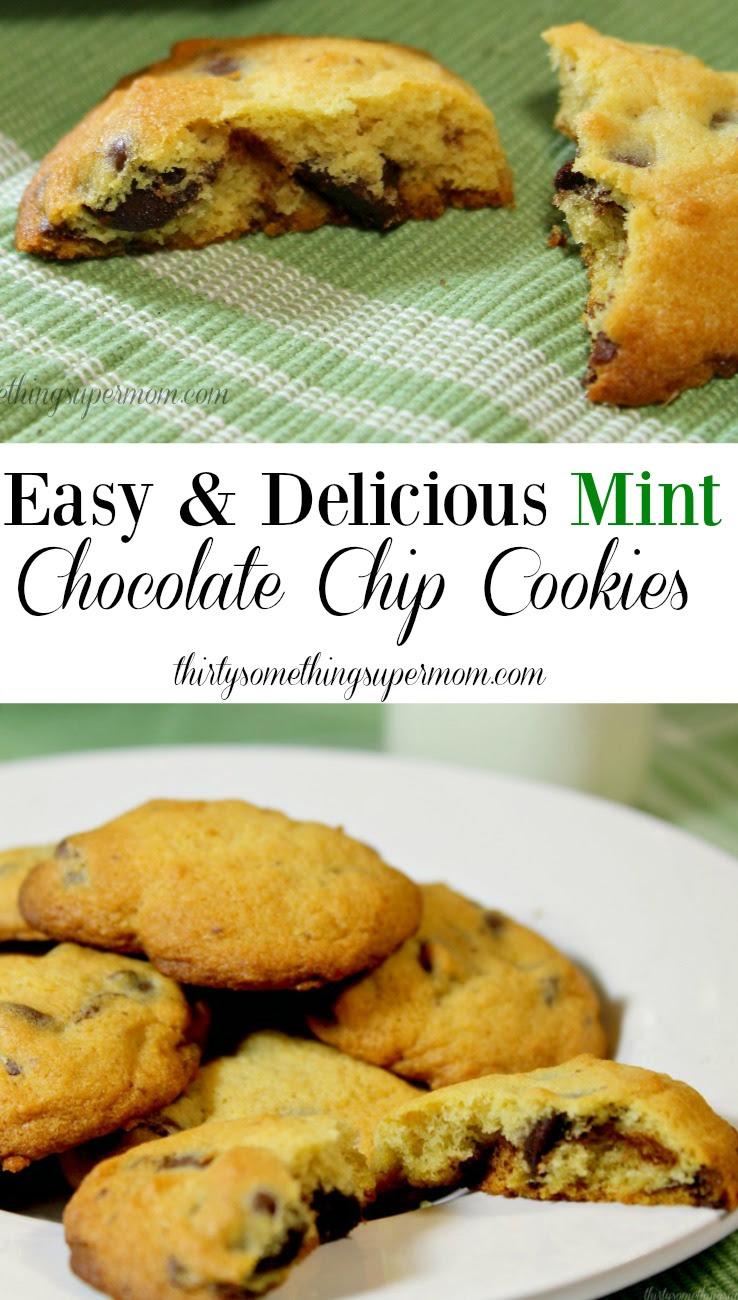 Mint Chocolate Chip Cookie Recipe - ThirtySomethingSuperMom