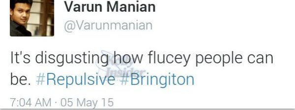 Varun Manian tweet on Trisha