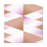 Iridescent Pink Gradient Triangles Canvas Print