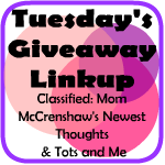 Tuesday's Giveaway Linkup