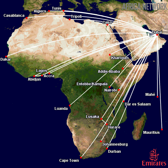 Emirates Updated Africa Network