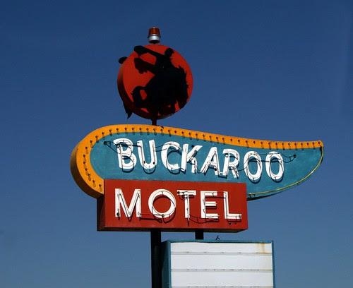 the buckaroo motel neon sign