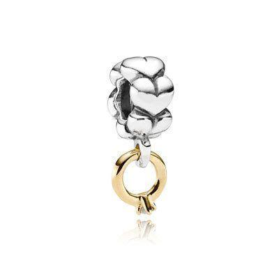"Just engaged? Start a Pandora wedding bracelet with the ""I"