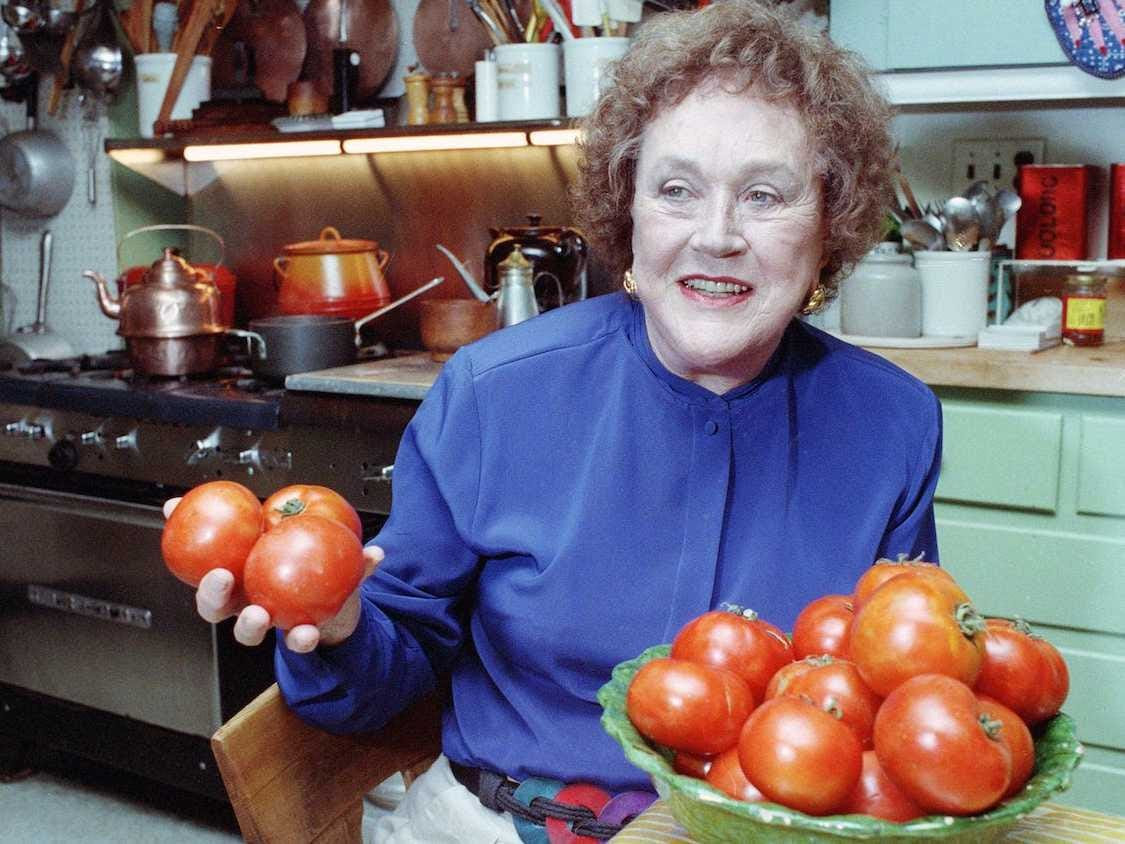 Julia Child worked in advertising and media before writing her first cookbook when she was 50, launching her career as a celebrity chef in 1961.