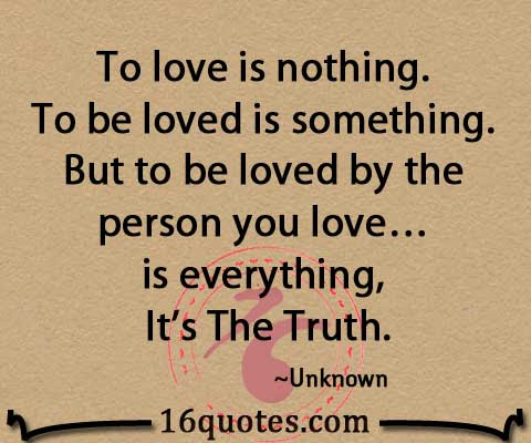 To Love Is Nothing To Be Loved Is Something But To Be Loved By The