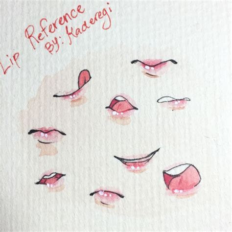 lip reference guides   art reference drawings