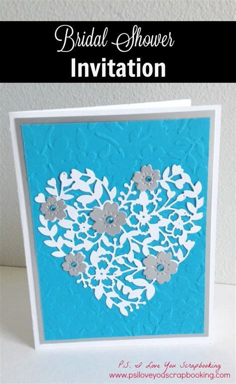 Handmade Bridal Shower Invitation   P.S. I Love You Crafts