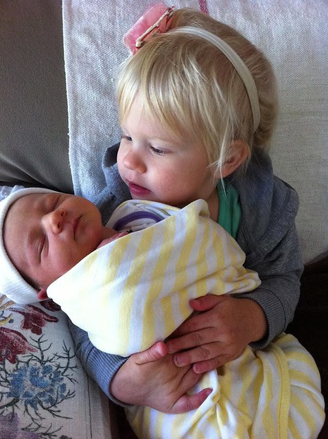Scarlet and baby Emily