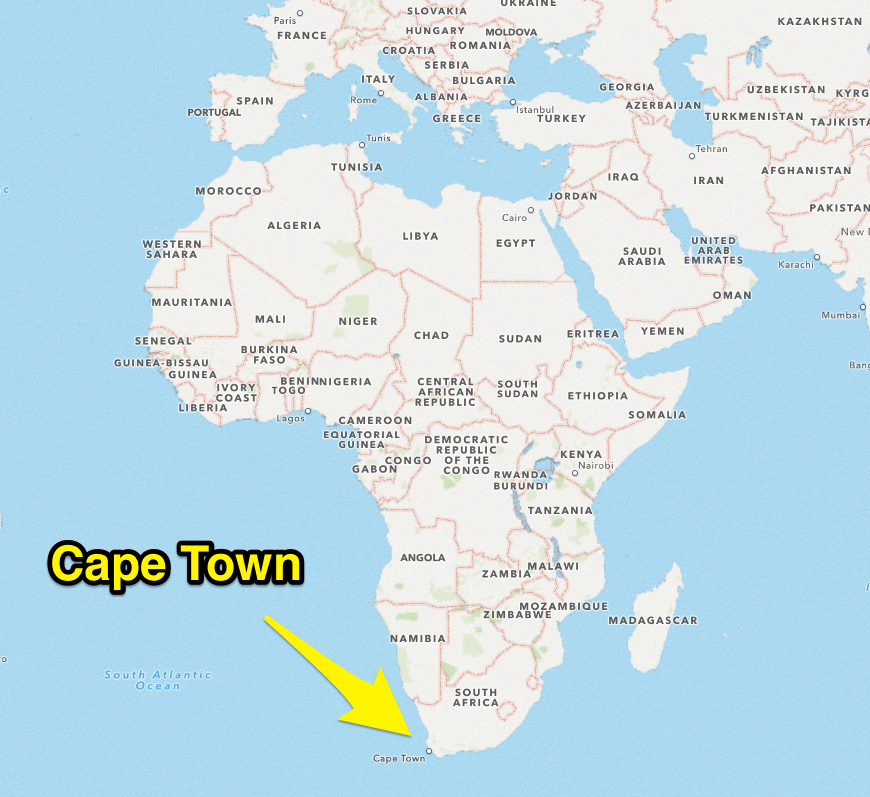 Cape Town Africa Map Map Of Africa