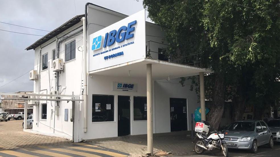 Sede do IBGE em Boa Vista (Foto: Diogo Menezes)