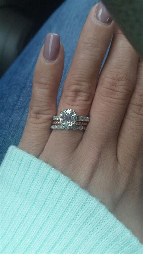 Size 3.5 FINGER with 1.5 carat OEC moissanite. That's why