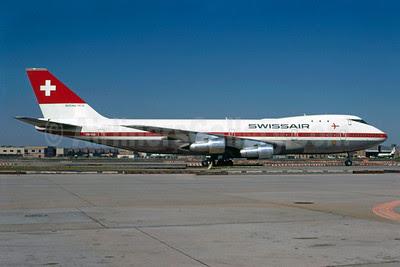 Swissair Boeing 747-257B HB-IGA (msn 20116) JFK (Bruce Drum). Image: 102782.