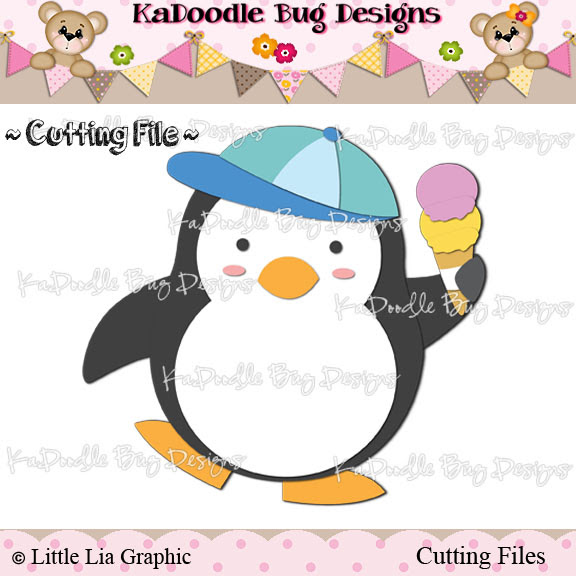 *SURPRISE FREEBIE* Ice Cream Penguin