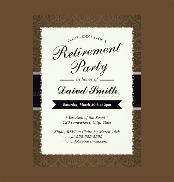 retirement party invitation Card Download