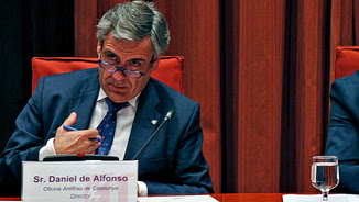 Daniel de Alfonso en un moment de la compareixença al Parlament en una imatge d'arxiu