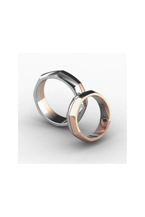 sophisticated octagonal shaped wedding ring