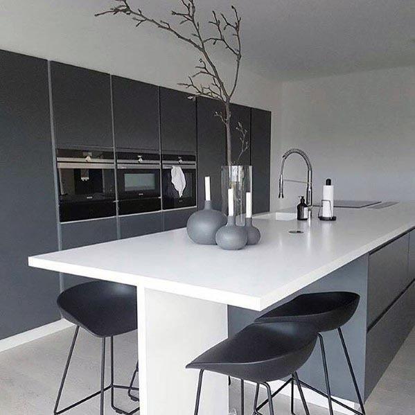 Top 50 Best Grey Kitchen Ideas - Refined Interior Designs