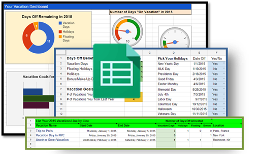 How to Track Your Vacation Days and Holidays - Spreadsheet
