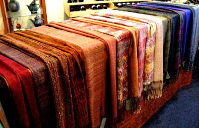 Textiles on display at Art of Wine