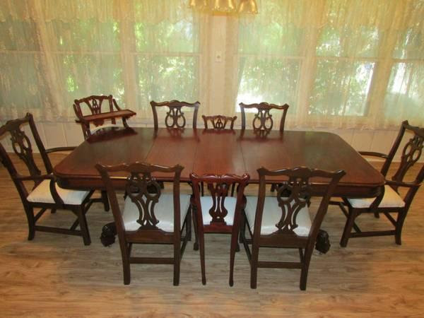 Antique Mahogany Dining Table And Chairs. Antique Mahogany Dining ...