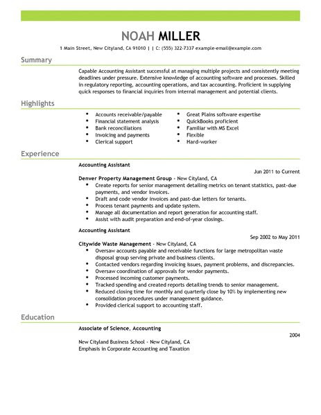 accounting assistant accounting finance resume example emphasis 2 463x600