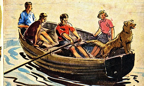 Famous Five on the cover of Five on a Treasure Island