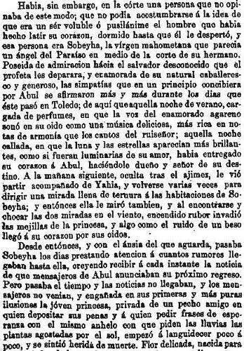 Leyenda de La Peña del Moro publicada en La Amérca por Eugenio de Olavarria y Huarte. Página 12