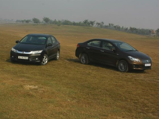 Maruti Ciaz vs Honda City Diesel comparison review