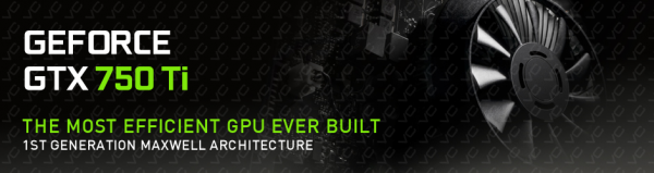 Banner Nvidia GeForce GTX 750 Ti