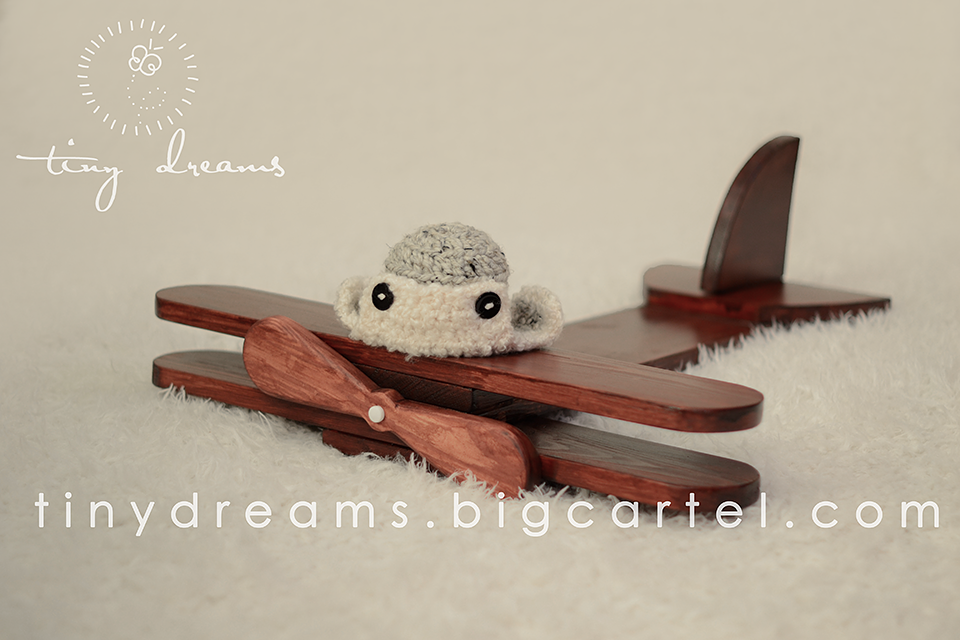 Wooden Plane Newborn Photography Prop UK