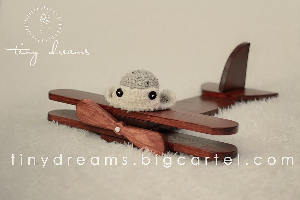 Wooden Plane Newborn Photography Prop UK