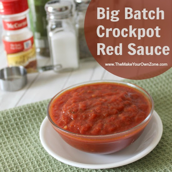 Recipe for homemade red sauce in the crockpot