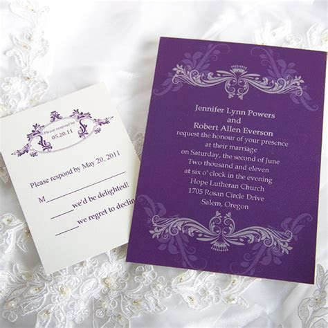 Purple Wedding Invitations And Wedding Ideas