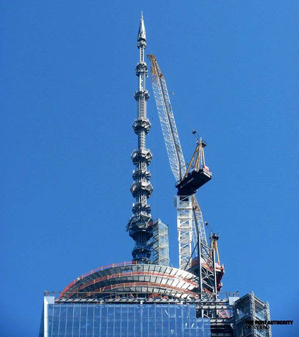 The 1 World Trade Center's antenna spire...as seen on May 28, 2013.