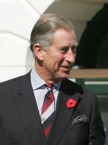 Charles, Prince of Wales outside the White Hou...