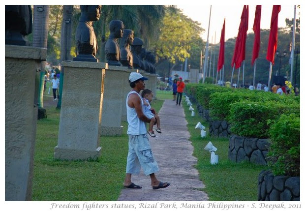 Martyrs statues, Rizal Park, Manila - S. Deepak, 2011