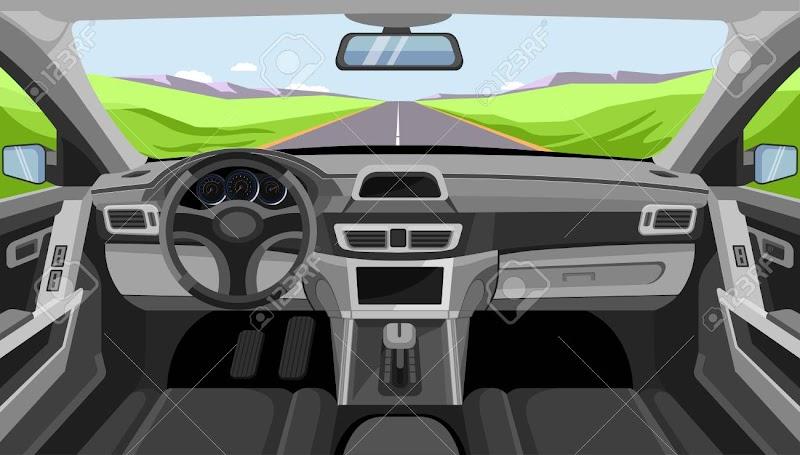 Car Interior Windshield