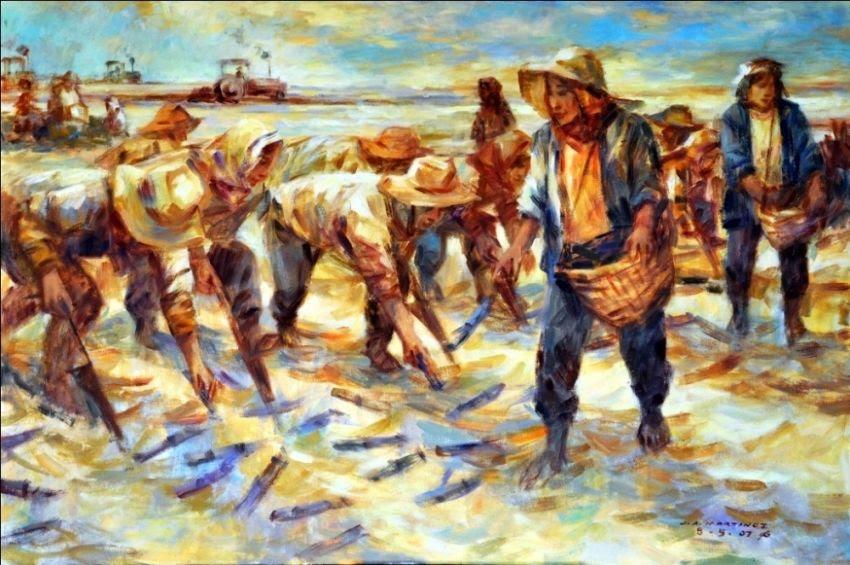 Sugarcane : Philippines Farming Sugarcane Paintings by Jun ...