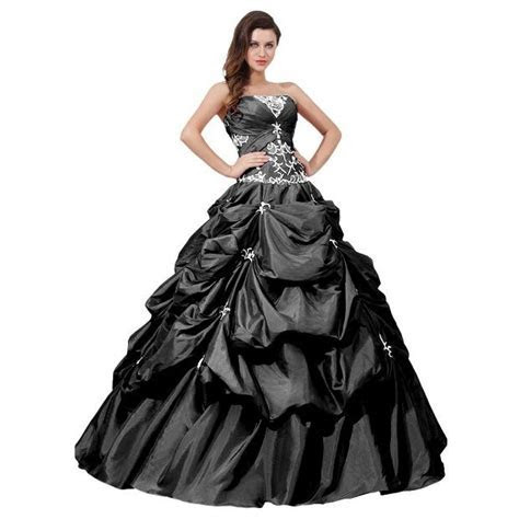 Plus Size Wedding Dresses   Black and white plus size ball